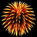 Gold glittering sparkle fireworks Royalty Free Stock Image