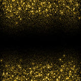Gold glittering sparks background Royalty Free Stock Image
