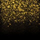 Gold glittering sparks background Royalty Free Stock Images