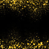 Gold glittering sparks background Royalty Free Stock Photography
