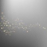 Gold glittering star dust trail. EPS 10 royalty free illustration