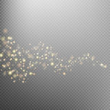 Gold glittering star dust trail. EPS 10 Royalty Free Stock Image