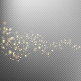 Gold glittering star dust trail. EPS 10 Stock Photography
