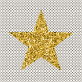 Gold glittering stars confetti. Royalty Free Stock Photography