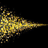 Gold glittering stars tail dust Royalty Free Stock Image