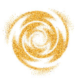 Gold Glittering Wave Stock Photos