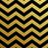 Gold glittering zigzag wave Stock Images