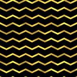 Gold glittering zigzag wave backgrouns Stock Photography