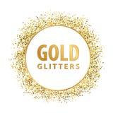 Gold glitters. Logo emblem template royalty free illustration