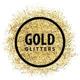 Gold glitters. Logo emblem template vector illustration