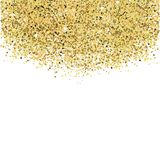 Gold glitters. Vector invitation background vector illustration