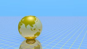 Gold globe rotate stock footage