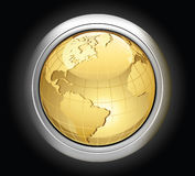 Gold globe. Royalty Free Stock Photos