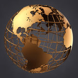 Gold Globe Stock Images