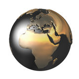 The gold globe Stock Image