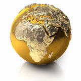 Gold Globe - Africa Royalty Free Stock Photos