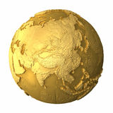 Gold Globe - Asia Royalty Free Stock Images