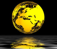Gold globe background Stock Images