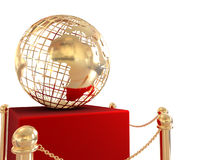 Gold globe background Royalty Free Stock Image
