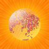Gold globe background Stock Photography