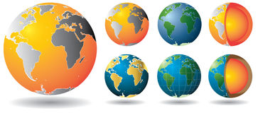 Gold Globe Core Stock Images