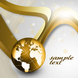 Gold Globe Stock Photography