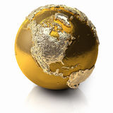 Gold Globe - North America Royalty Free Stock Images