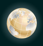 Gold globe stock Royalty Free Stock Photo