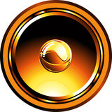 Gold glossy speaker royalty free stock photo