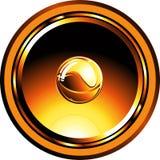 Gold glossy speaker Royalty Free Stock Photo