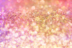 Gold Glow glitter background. Stock Image