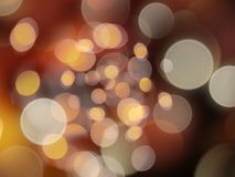 Gold glowing beautiful blurred round lights abstract background stock illustration