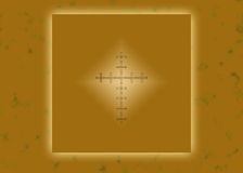 Gold glowing Christian cross Royalty Free Stock Photos