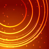 Gold glowing circle frame with sparkles Royalty Free Stock Image