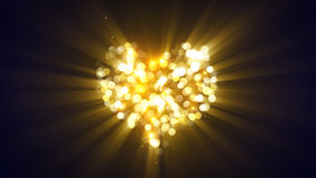 Gold glowing heart shape. Computer generated abstract background vector illustration