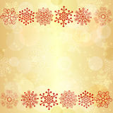 Gold  glowing seamless christmas pattern Stock Photos