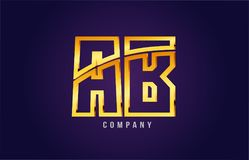 Gold golden alphabet letter ab a b logo combination icon design. Gold golden alphabet letter ab a b logo combination design suitable for a company or business on Vector Illustration