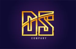 Gold golden alphabet letter ds d s logo combination icon design. Gold golden alphabet letter ds d s logo combination design suitable for a company or business on Stock Image