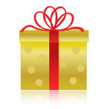 Gold / golden gift box royalty free stock images