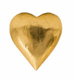 Gold Golden Heart Royalty Free Stock Photo