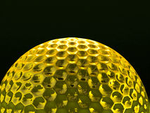 Gold golf ball Royalty Free Stock Photos