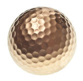 Gold golf ball Stock Image