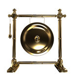 Gold gong Stock Image