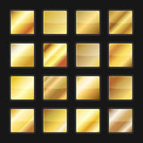 Gold Gradient Background Textures Set. Vector Royalty Free Stock Photography
