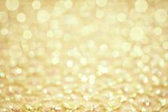 Gold gradient bokeh background. Royalty Free Stock Photos