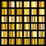 Gold gradient. Golden metal squares vector collection. Metal shiny golden, gold square smooth illustration vector illustration