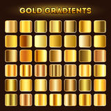 Gold gradients vector set Stock Photography