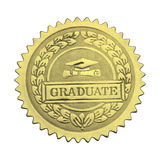 Gold Graduate Seal Stock Images