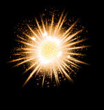 Gold grand explosion planet Royalty Free Stock Photography