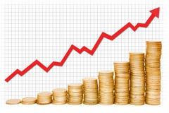 Gold Graph royalty free stock photos